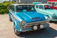 Ford Consul Cortina Oldtimer 1500 på den årliga nationella oldtimerdagen i Lelystad Royaltyfri Fotografi