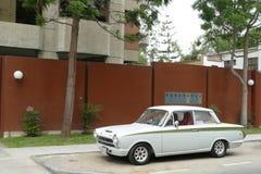 Ford Cortina Mark I salón de 2 puertas en San Isidro, Lima Imágenes de archivo libres de regalías