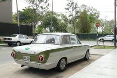 Ford Cortina Mark I salong för 2 dörr i Lima royaltyfri fotografi