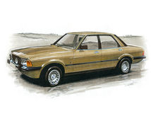 Ford Cortina Mk V. Illustration of a Ford Cortina Mk V Ghia Royalty Free Stock Images