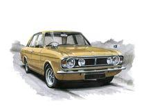 Ford Cortina MkII 1600E illustration de vecteur