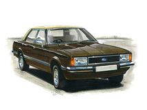 Ford Cortina MkIV Ghia Immagine Stock