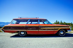 1964 Ford Country Squire Wagon. Isolated image of a Ford Country Squire Wagon photographed in British Columbia, Canada Stock Images