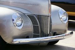 1940 Ford Coupe. With corvette LS3 motor under the hood at a local car show stock image