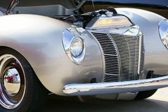 1940 Ford Coupe. With corvette LS3 motor under the hood at a local car show stock images