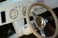 1937 Ford Coupe Dash royalty-vrije stock foto's