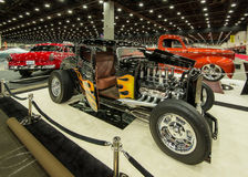 1932 Ford Coupe. DETROIT, MI/USA - FEBRUARY 27, 2016: A 1932 Ford Coupe interpretation, on display at the Detroit Autorama, a showcase of custom and restored Stock Photography