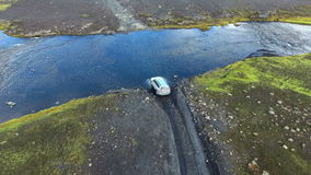 Ford crossing in Iceland. stock footage
