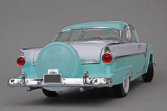 Ford Crown Victoria 1955. 1955 Ford Fairlane Crown Victoria, Yatming Road Legends 1:18 scale diecast automotive miniature replica, right rear view Royalty Free Stock Photos