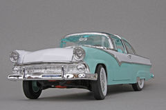 Ford Crown Victoria 1955. 1955 Ford Fairlane Crown Victoria, Yatming Road Legends 1:18 scale diecast automotive miniature replica, left front view Stock Image
