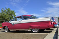 1955 Ford Crown Victoria classic car. BISMARCK, NORTH DAKOTA, August 6, 2016: The Capital A'fair in Bismarck features the Fords and Mustangs car show which this stock photo