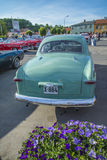 1950 ford custom. The picture is shot at the fish market in Halden, Norway stock photography