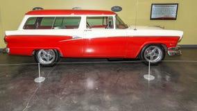 1956 Ford Custom Ranch Wagon. On display at the American Car Museum, Tacoma, Washington. 9 May, 2015 Stock Images