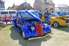 Ford customised classic vintage car. Photo of a ford customised classic vintage car showing at whitstable car show 2nd august 2015 ideal for classic cars,vintage Stock Photography
