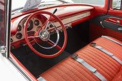 1955 Ford Dash en Binnenland Stock Afbeelding