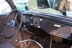 Ford Dashboard 1935 Royaltyfri Fotografi