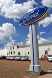 Ford dealership in North Dakota Royalty Free Stock Images