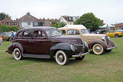 Ford deluxe and chevrolet vintage classics Royalty Free Stock Photography