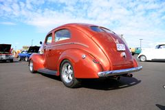 1940 Ford Deluxe Tudor Sedan V-8 - rear view Royalty Free Stock Images