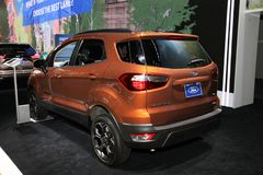 Ford Ecosport SES. NEW YORK CITY-MARCH 28: Ford Ecosport SES shown at the New York International Auto Show 2018, at the Jacob Javits Center. This was Press Stock Photos
