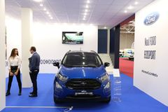 Ford Ecosport-st-Lijn bij SIAB 2018, Romexpo, Boekarest, Roemenië Stock Afbeelding
