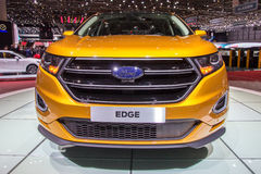 Ford Edge car. GENEVA, SWITZERLAND - MARCH 4, 2015: The new Ford Edge car presented at the 85th International Geneva Motor Show in Palexpo, Geneva Royalty Free Stock Photography