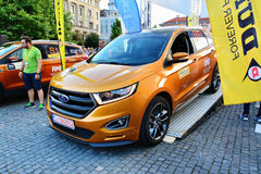Ford Edge 2016 Sport stays at the start line Royalty Free Stock Photography