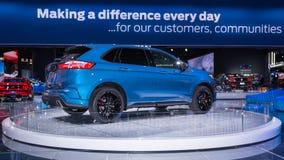 2019 Ford Edge ST, NAIAS Royaltyfri Bild