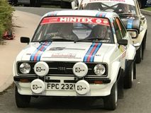 Ford escort mk 2 rally car at wrc wakes stock photo