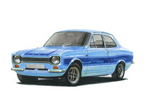 Ford Escort Mk 1 RS2000 Foto de Stock Royalty Free