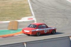 Ford Escort Mk 1 touring car en la acción en Monza fotos de archivo libres de regalías