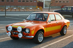A Ford Escort MKI parked Royalty Free Stock Photos