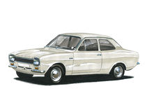 Ford Escort MkI Twin Cam Royalty Free Stock Photos