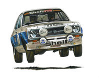 Ford Escort MkII RS1800 (Roger Clark) Royalty Free Stock Images