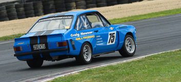 Ford Escort race car. A classic 1975 Ford Escort 2300cc race car featuring in the Annual Classic Musclecar Festival in New Zealand Royalty Free Stock Images