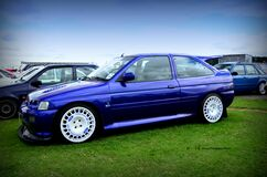 ford escort rs cosworth blue Royalty Free Stock Photos