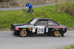 Ford Escort RS  race during the 64th Sanremo rally. Conducted in the race crew Volpato-Sordelli Royalty Free Stock Photos
