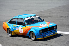 1978 Ford Escort 1800 RS Touring Car. Monza circuit was the theatre of the Monza-Historic event by Peter Auto Stock Image