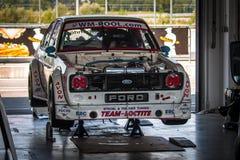 Ford Escort tävlings- bil Arkivfoto