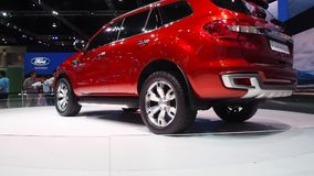 The Ford Everest Concept at the 35th Bangkok International Motor Show 2014 stock footage