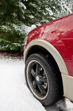 Ford Expedition in the snow Royalty Free Stock Images