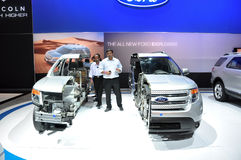 Ford explorer cut in half. Ford Explorer 2011, Cut in Half to show all the inside parts Dubai Motor Show 2011 stock photography
