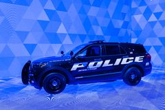 Ford Explorer Hybrid Police Interceptor 2020 immagine stock