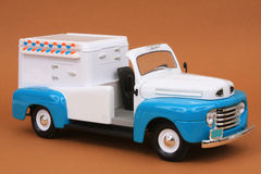 Ford F-1 Ice Cream Truck 1948. 1948 Ford F-1 Ice Cream Truck, Yatming Road Legends 1:18 scale diecast, right front view, high angle Royalty Free Stock Photo