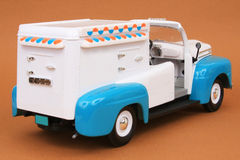 Ford F-1 Ice Cream Truck 1948. 1948 Ford F-1 Ice Cream Truck, Yatming Road Legends 1:18 scale diecast, right rear view Stock Photos
