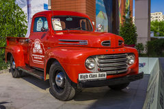 Ford F3 Flathead 1949. Classic american cars Ford F3 Flathead 1949. Photo taken on May 31, 2015 in Bucharest, Romania royalty free stock photo