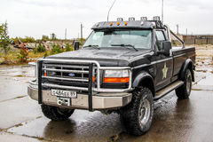 Ford F-250. NADYM, RUSSIA - AUGUST 29, 2015: Pickup truck Ford F-250 in the city street Royalty Free Stock Photography