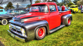 Ford F100 pick up truck in HDR Royalty Free Stock Photos