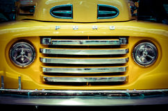 Ford F-1 Pickup Front. Yellow 1948 Ford F-1 Pickup Front Royalty Free Stock Images