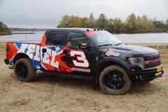 Ford F150 Raptor - camion de collecte Photos libres de droits